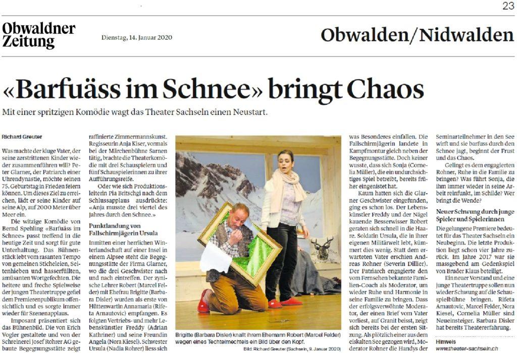Obwaldner Zeitung vom 14.01.2020